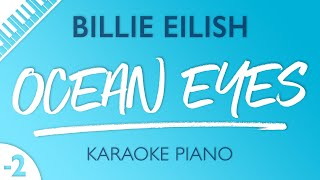 Gambar cover Ocean Eyes (Lower Key - Piano Karaoke Instrumental) Billie Eilish