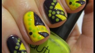 Funky Contrast Nail Art Tutorial