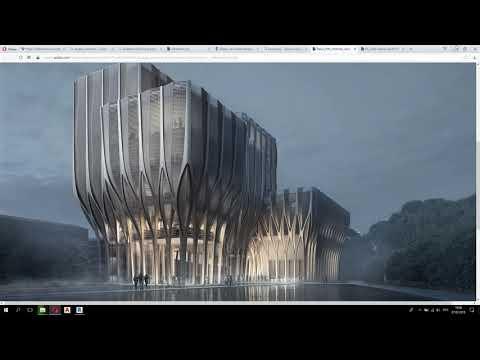 Создание института Захи Хадид в Autodesk Revit видео