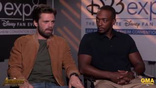 Sebastian Stan & Anthony Mackie Tease a 30-Minute, Or Longer, Battle Scene In Avengers Infinity War