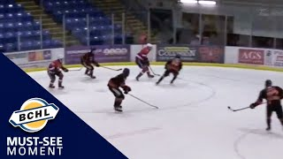 Must See Moment: Riley Wallack goes through the defender's legs for the sweet goal