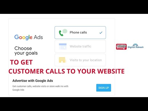 Get customer calls to your business with Google Ads