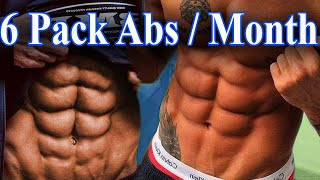 How To Make 6 Pack Abs In 1 Month At Home?