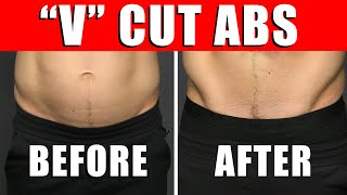 """6 TRICKS to Get """"V"""" Cut Abs QUICK! (NO EQUIPMENT NEEDED)"""