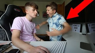 IGNORING MY LITTLE BROTHER FOR 24 HOURS!