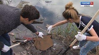 Молодежь Краснодара наводит порядок в парках и скверах города