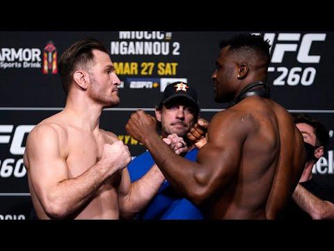 Les face à face de l'UFC 260