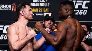 UFC 260: Weigh-in Faceoffs