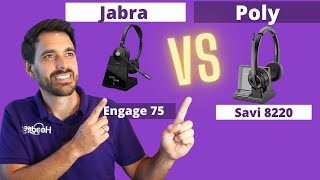 Plantronics Savi 8220 Office Vs. Jabra Engage 75 In Depth Review! With Mic and Speaker Test!