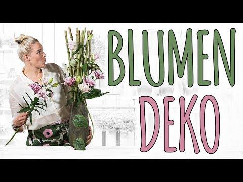 BLUMENDEKO - DREI SCHÖNE DEKORATIONEN FÜR RAUM-TISCH-GARTEN - DIY