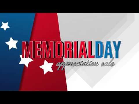 Memorial Day Appreciation Sale