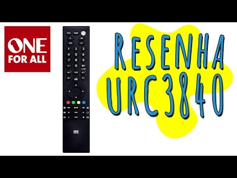 Resenha controle remoto universal One For All URC3840
