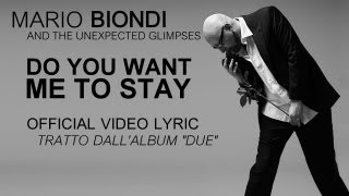 "Mario Biondi ft. Vahimiti -Do you want me to stay -Official Video Lyric- estratto da ""Due"""