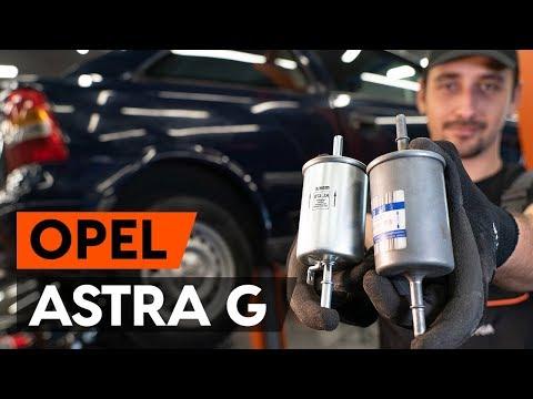 Wie OPEL ASTRA G CC (F48, F08) Kraftstofffilter wechseln [TUTORIAL AUTODOC]