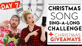 DAY 7: CHRISTMAS SONG CHALLENGE + GIVEAWAYS | 12 Days Of Christmas Challenges