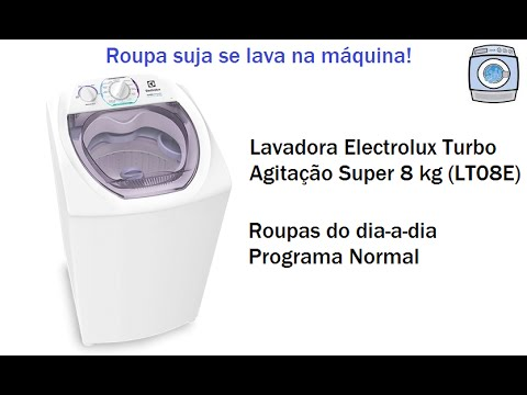 Lavadora Electrolux Turbo Agitação Super 8 kg (LT08E) - Programa Normal 1 enxágue