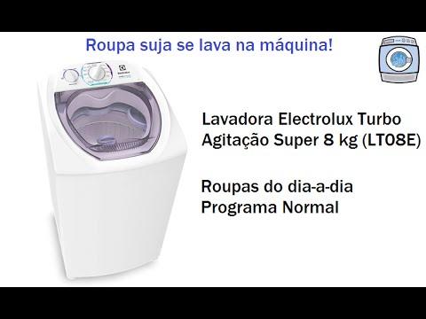 Lavadora Electrolux Turbo Agitação Super 8 kg (LT08E) - Programa Normal 1 enxágue