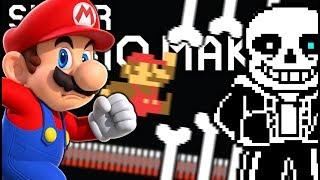 MARIO VS. SANS!!! EASY MODE?!?! | Undertale Levels | Super Mario Maker