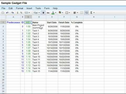 Add a Gantt Chart To Your Google Spreadsheet