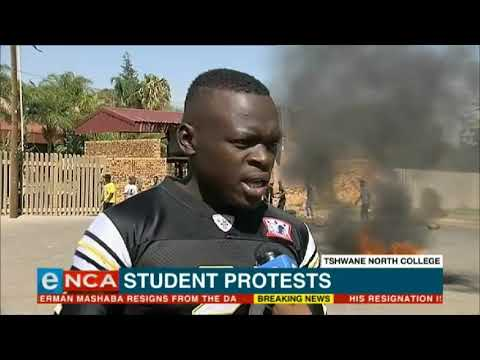 Tshwane North College students protest