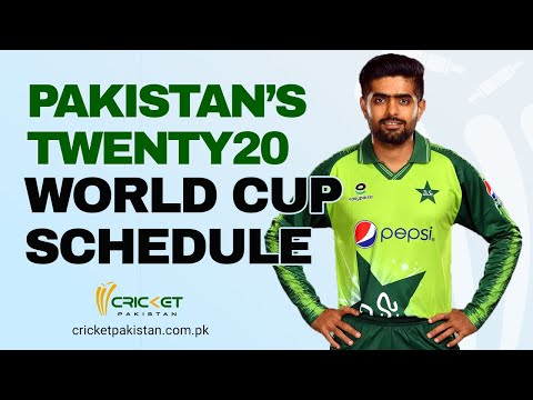 Pakistan's T20 World Cup schedule