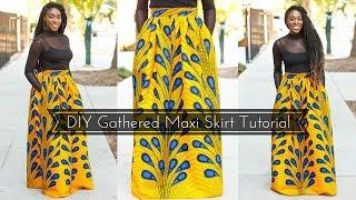 How To | DIY Gathered Maxi Skirt Tutorial Part 1