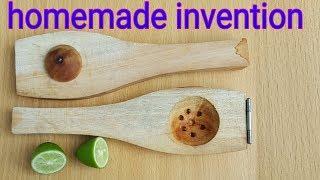 Lemon press machine /Homemade made inventions