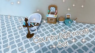 Opening Country Bathroom Set ~ Calico Critters