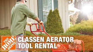 How to Use a Classen Self-Propelled Aerator Rental | The Home Depot