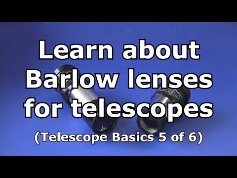 Telescope Basics 5 (of 6): Learn the basics about barlow lenses for telescopes