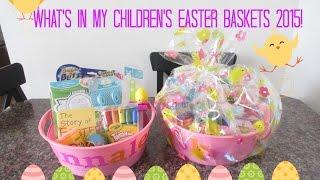 Kids Easter Baskets 2015||Toddler & Child!
