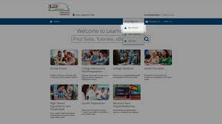 Navigating the LearningExpress Home Page – Tutorial