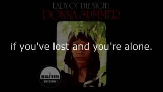 "Donna Summer - Sing Along (Sad Song) LYRICS Remastered ""Lady of the Night"" 1974"