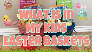 What's In My Kids Easter Baskets 2018 | 5 Year Old And 1 Year Old