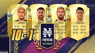 FIFA 18 PLAYER RATINGS FROM 10 to 1 - RONALDO THE BEST! - FIFA 18 Ultimate Team #FIFA18Ratings