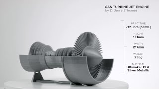 Jet Engine by DrDanielJThomas - Ultimaker: 3D Printing Timelapse