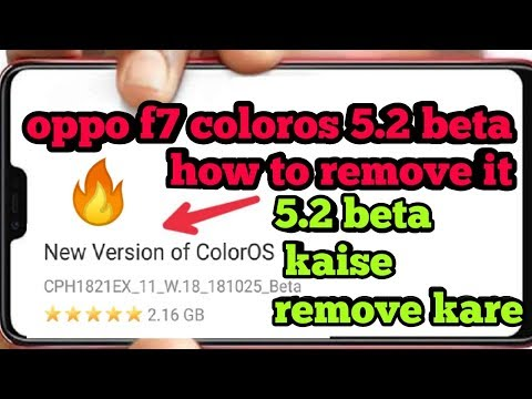 OPPO F7 - How to go back ColorOS 5 0 Beta to ColorOS 5 Old Version