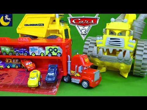 Mini Racers Mack Transporter Disney Cars 3 Toys Screaming Banshee Colossus XXL Jackson Storm Toys