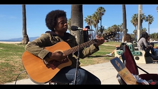 Doc Watson, Deep River Blues (cover by Sunny War) - busking in the streets of Los Angeles, USA