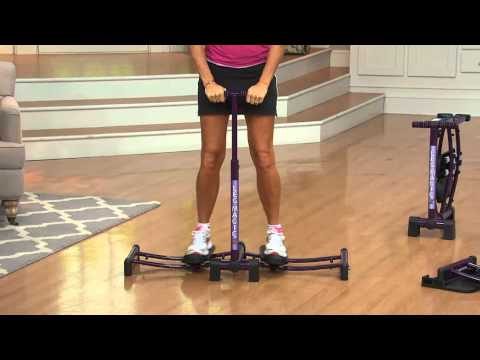 Leg Magic X Lower Body Exercise System with Removable Glider Stops with Kerstin Lindquist