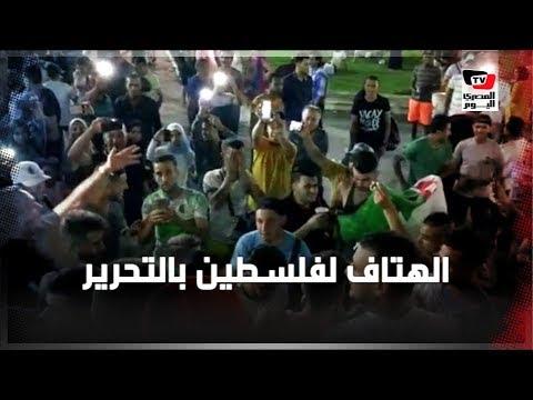 جزائريون يهتفون: «فلسطين شهداء» بميدان التحرير
