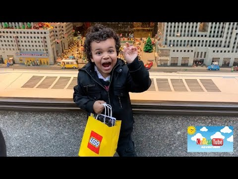 Lego Store Rockefeller Center New York City | Christmas 2018!| Kids Lego Fun!|Must see!