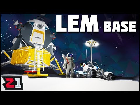 Building a Lunar Base Around the LEM ! Astroneer Lunar Update | Z1 Gaming