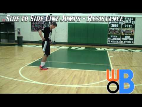 Side to Side Line Jumps with Resistance