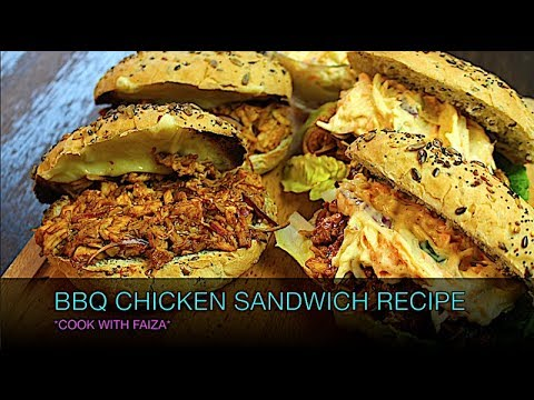 BBQ CHICKEN SANDWICH RECIPE (HOT OR COLD) *COOK WITH FAIZA*