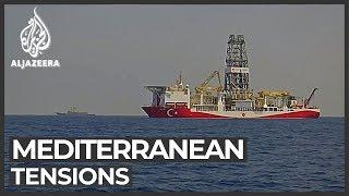 "<span class=""fs-xs"">Turkey, Greece brace for standoff over Cyprus gas drilling plans - Al Jazeera, January 24, 2020</span>"