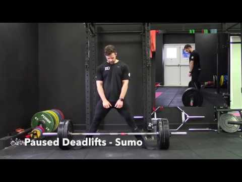 Paused Deadlifts (sumo) Tutorial - 180 Strength