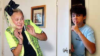 I SPENT THE NIGHT IN JOJO SIWA'S HOUSE AND SHE HAD NO IDEA... *24 HOUR CHALLENGE*