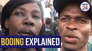WATCH | Zimbabweans explain why they booed Cyril Ramaphosa at the #MugabeMemorial