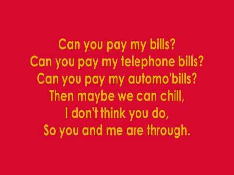 Música Bills, Bills, Bills